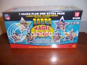 2010 Topps Magic Football Retail Blaster Box