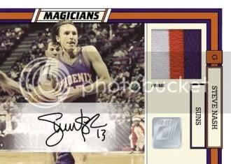 2010/11 Donruss Steve Nash Magicians Prime Jersey Autograph Card