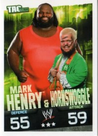 2009 Slam Attax Evolution Tag Team Henry/Hornswoggle