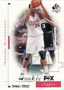 1998-99 Sp Authentic Michael Olowokandi Rookie RC