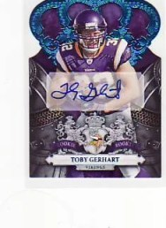 2010 Panini Crown Royale Toby Gerhart Autograph RC Card Blue #19/50