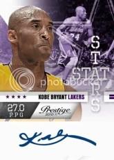 2010/11 Panini Prestige Kobe Bryant Stat Stars Autograph