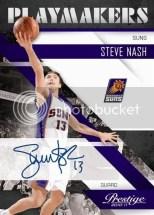 2010-11 Panini Prestige Steve Nash Playmakers Autograph