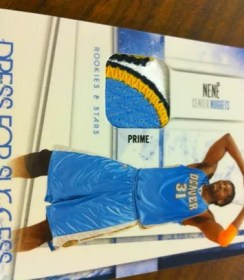 2010/11 Rookies and Stars Nene Dress For Success Prime Jersey Patch Card