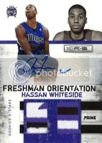 2010/11 Panini Rookies and Stars Freshman Orientation Hassan Whiteside Autograph Prime Material Card