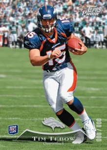 2010 Topps Prime Tim Tebow RC Card