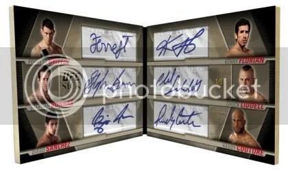 2010 Topps UFC Knockout Sick Sigs 6 Way Autograph Book Card