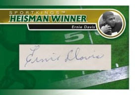 2010 Sporkings Gum Heiman Winner Cut Autograph Ernie Davis Card