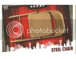 2009 Slam Attax Evolution Steel Chair Prop Card