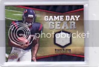 2009 UD Game Day Jersey Steve Slaton Retail
