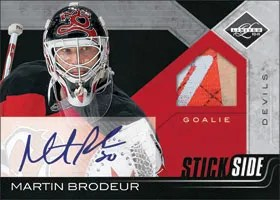 2010/11 Panini Limited Stickside Martin Brodeur Auto Jersey
