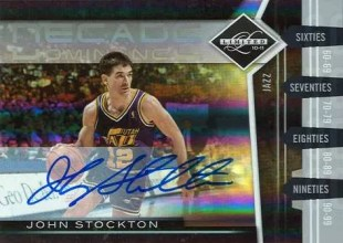 2010/11 Panini Limited Decade Dominace John Stockton Autograph Card