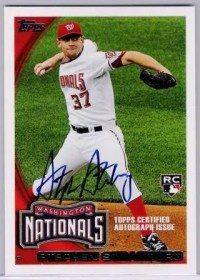 2010 Topps Million Card Giveaway Stephen Strasburg Autograph #/299