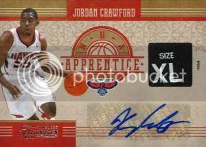 2010-11 Panini Timeless Treasures Jordan Crowford NBA Apprentice Autograph Material Card