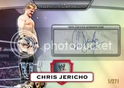 2010 Topps Platinum WWE Chris Jericho Autograph /271