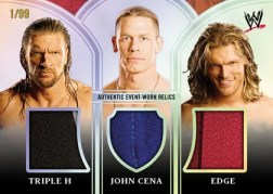 2010 Topps Platinum WWE Triple H/John Cena/Edge Relic