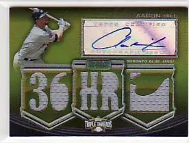 2010 Topps Triple Threads Aaron Hill Autograph Relic /9