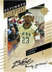 2010/11 UD Ultimate Collection LeBron James Inscriptions Auto