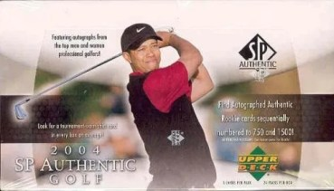 2004 Upper Deck SP Authentic Golf Hobby Box