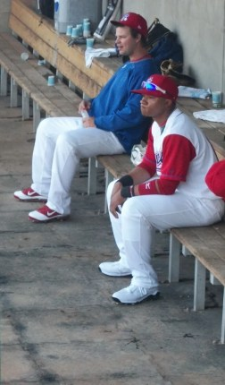 Stockton Ports Baseball Prospect Michael Choice in the Dugout April 14, 2011