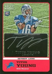 2011 Topps Black Magic Titus Young Autograph