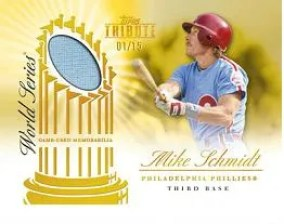 2012 Topps Tribute World Series Swatches Mike Schmidt