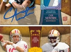 2011 Topps Five Star Joe Montana Jerry Rice Dual Autograph /10