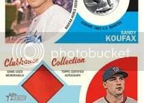 2012 Topps Heritage Sandy Koufax 1963 Mint Quarter
