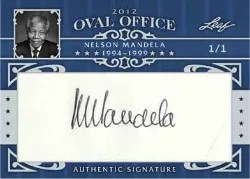 2012 Leaf Oval Office Nelson Mandela