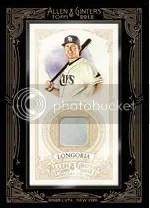 2012 Topps Allen & Ginter Evan Longoria Relic Jersey Card