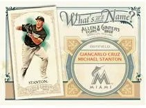 2012 Topps Allen & Ginter Mike Stanton Whats in a Name