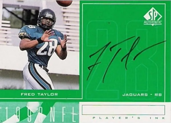 1998 Upper Deck SP Authentic Fred Taylor Autograph Players Ink Card