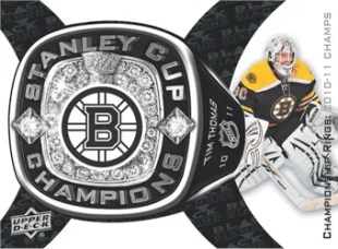 2011-12 Upper Deck Black Diamond Stanley Cup Championship Ring Card