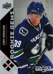 2011-12 Upper Deck Black Diamond Rookie Gems Cody Hodgson Card