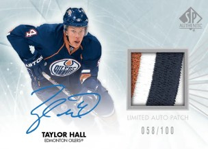 2011-12 Upper Deck SP Authentic Hockey Taylor Hall Limited Jersey Autograph Patch Card