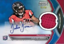 2011 Bowman Sterling Julio Jones Autograph Relic Card