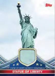 2011 Topps American Pie Pieces Statue of Liberty Relic Card