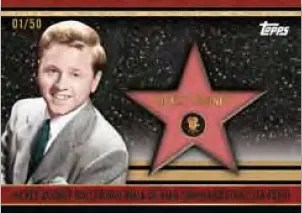 2011 Topps American Pie Hollywood Walk of Fame Patch Card