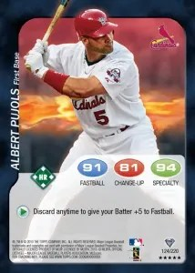 2011 Topps Attax Baseball Albert Pujols Card