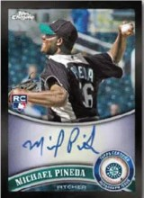 2011 Topps Chrome Black Border Michael Pineda Auto #174