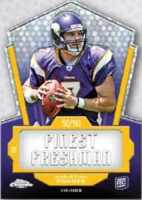 2011 Topps Chrome Finest Freshman Christian Ponder Insert Card