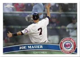 2011 Topps Chrome Joe Mauer Base Card