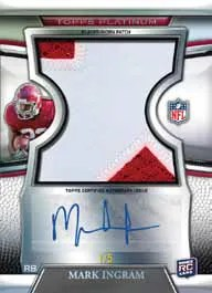 2011 Topps Platinum Auto Patch Card Of Mark Ingram