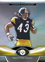 2011 Topps Platinum Football Troy Polamalu Base Card