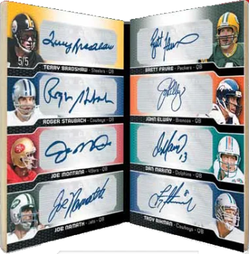 2011 Topps Precision Eight Autograph Book Card