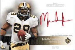 2011 Topps Precision Mark Ingram Red Ink Autograph Card