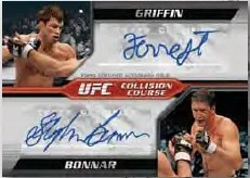 2011 Topps UFC Moment of Truth Collision Course Dual Autograph
