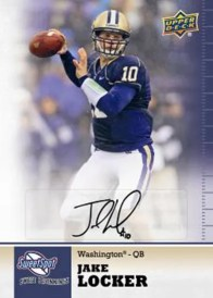 2011 Upper Deck Sweet Spot Jake Locker Autograph Card