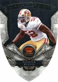2011 Panini Crown Royale Knights of the Gridiron Patrick Willis Card #9