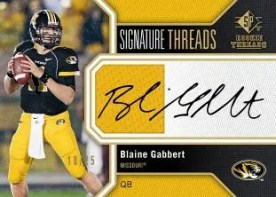 2011 UD Sp Authentic Blaine Gabbert Jersey Autograph